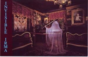 Irma the Ghost playing the piano at the magic castle where jersey jim peforms