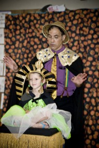 Jersey Jim Floats a Girl at Halloween Magic show